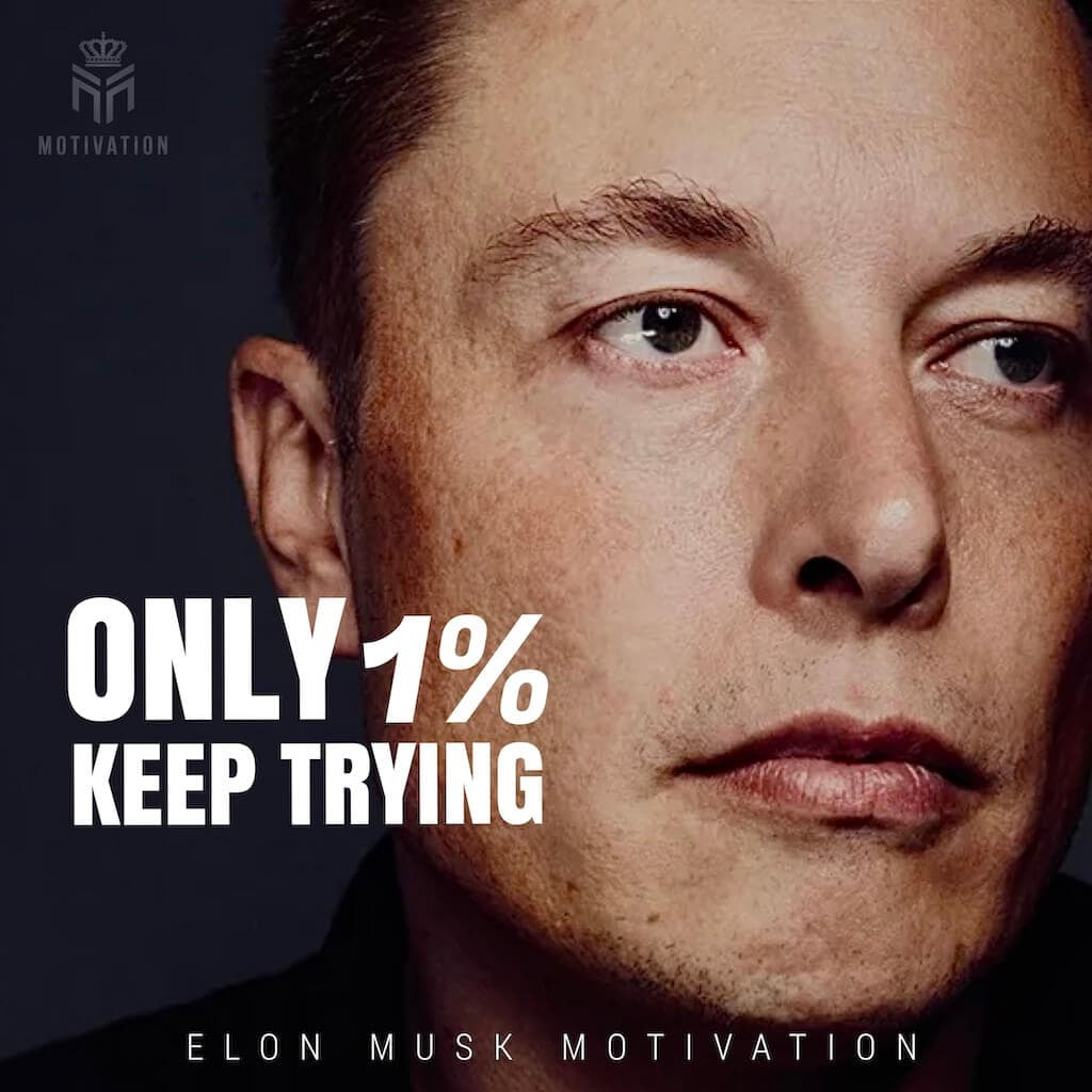only 1% keep trying